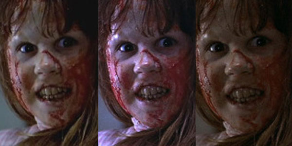 The Exorcist image quality comparisons between DVD and Blu-ray discs