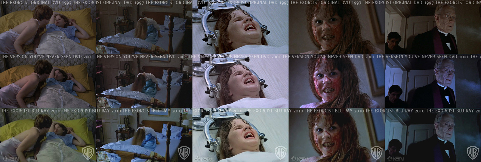 The Exorcist image quality comparisons between DVD and Blu