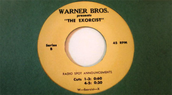 Listen: original Exorcist radio spots from 1973 vinyl recordings