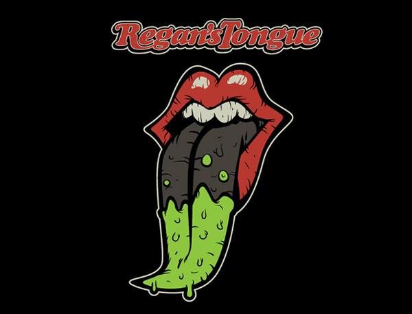 Regan's Tongue t-shirt design