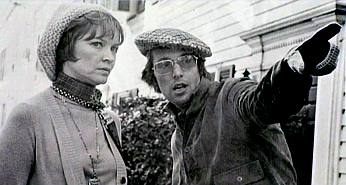 Ellen Burstyn and William Friedkin on the set of The Exorcist