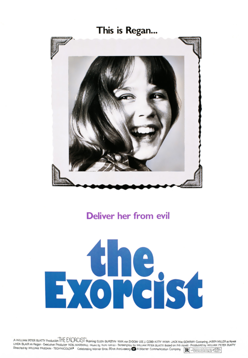 Rejected Exorcist poster design by Bill Gold
