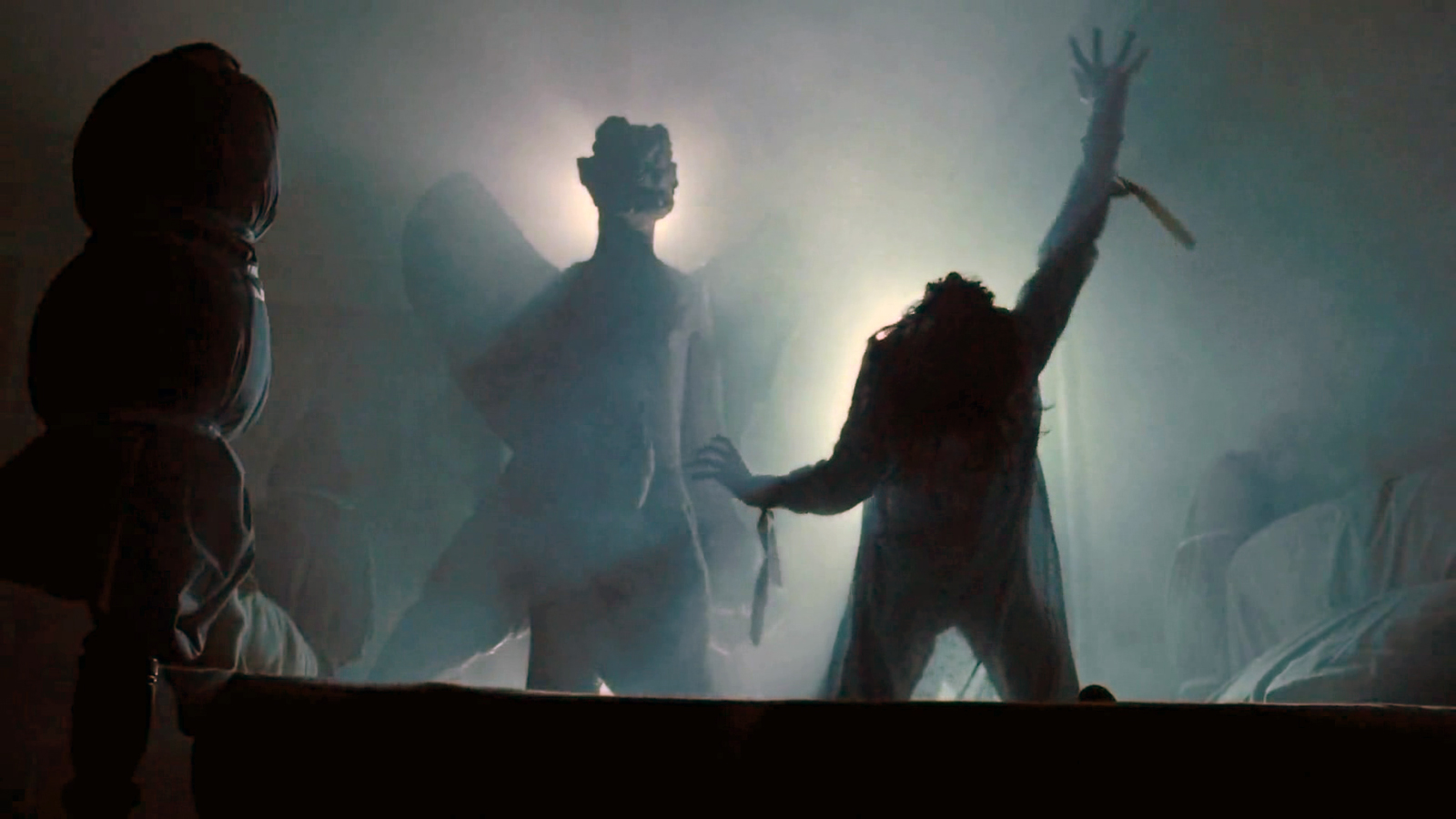 scene from The Exorcist, Regan and Pazuzu