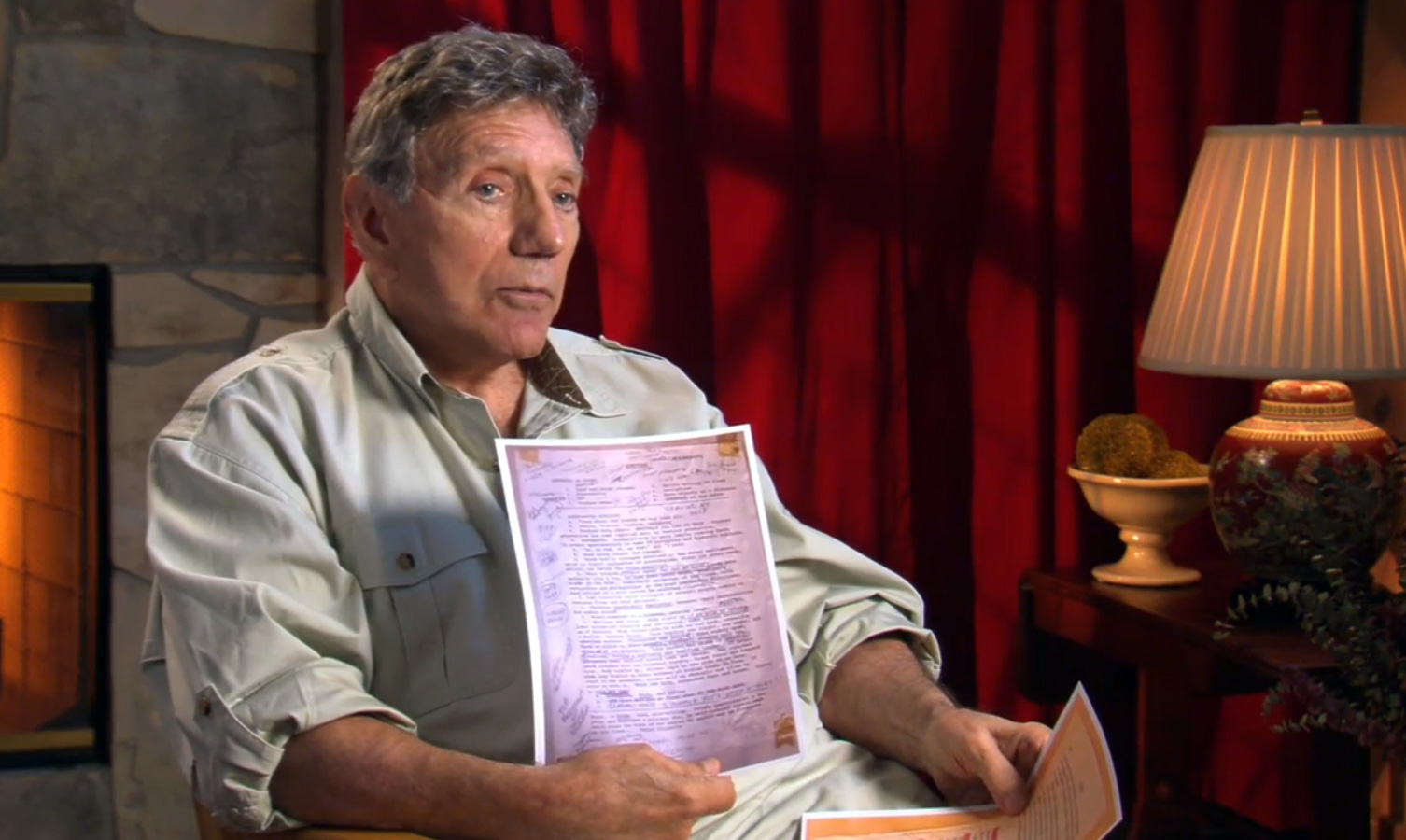 William Peter Blatty shows notes he took before writing The Exorcist