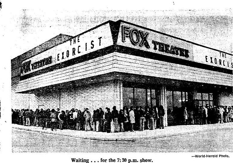 The line for the opening of The Exorcist in Omaha