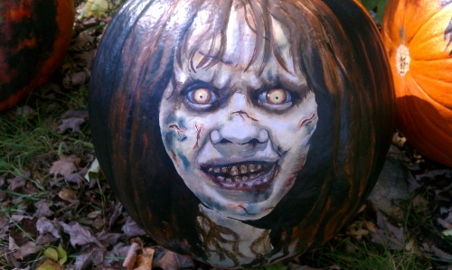 Regan acrylic painted pumpkin