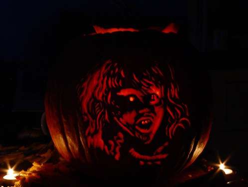 Regan pumpkin carving