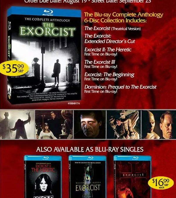 Exorcist Blu-ray Complete Anthology release date revealed