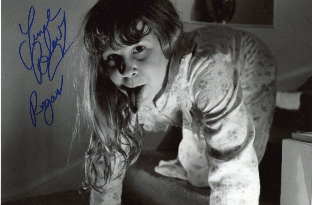 RARE PHOTOS of Linda Blair on set