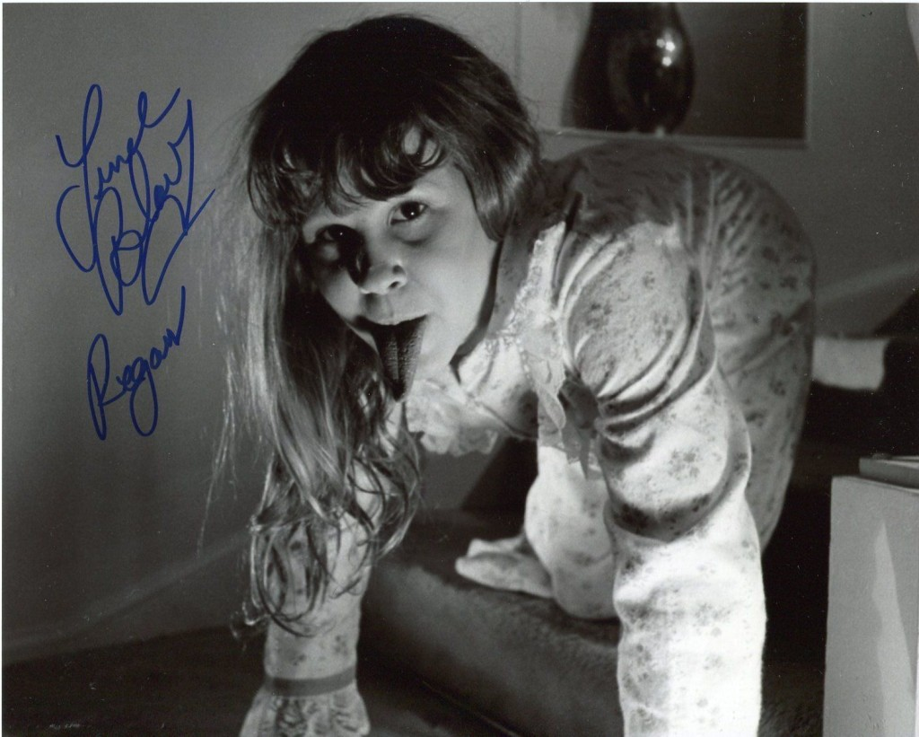 Autographed rare picture of Linda Blair