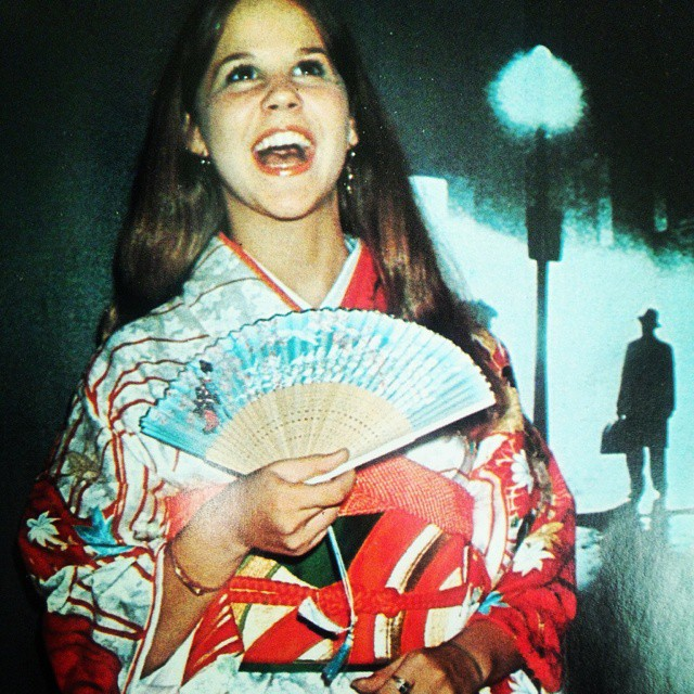 RARE: Linda Blair promoting The Exorcist in Japan