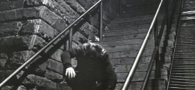 Rare images of the The Exorcist Steps fall being filmed