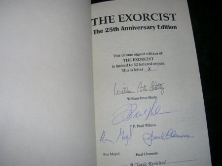 Exclusive look at The Exorcist novel 25th Anniversary Edition