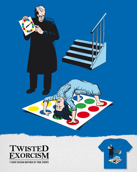 The Twisted Exorcist T-shirt design inspired by true events