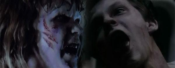 Possessed Regan and possessed boy