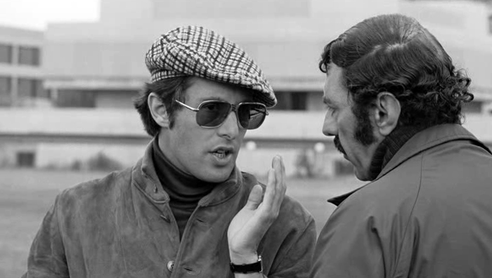 William Friedkin and William Peter Blatty have a discussion on the set of The Exorcist