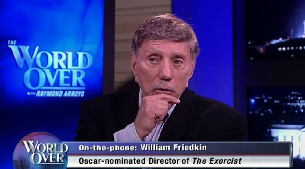 William Peter Blatty during an interview on World Over.